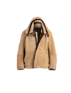 The Geo II Reversible Shearling Jacket In Cognac