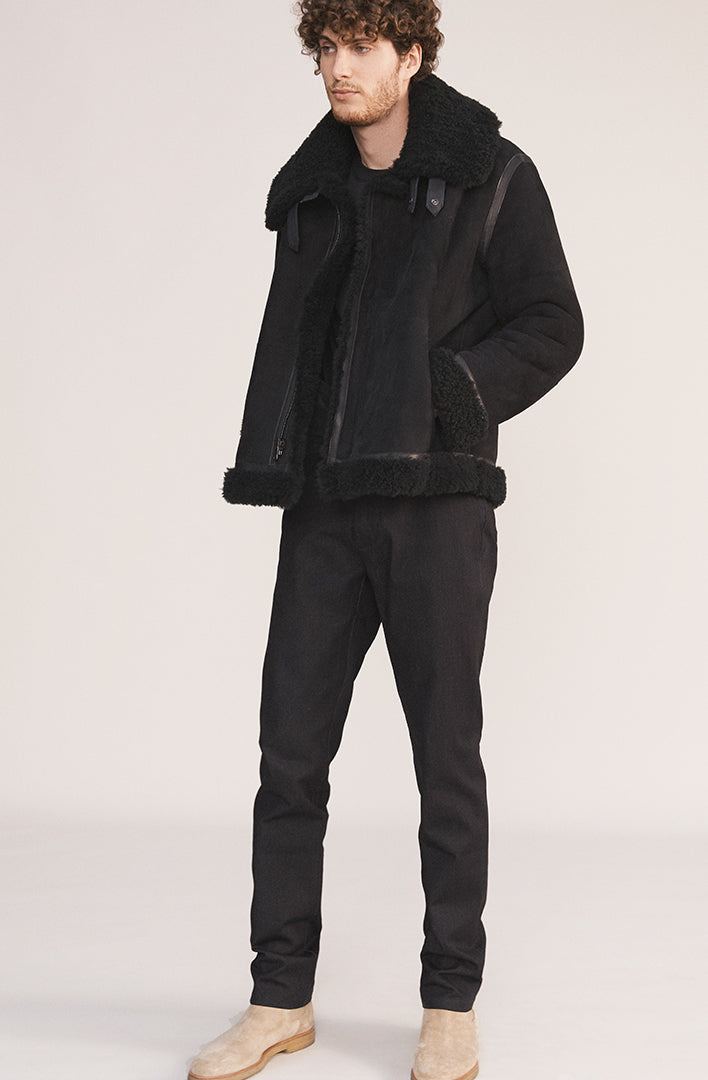 THE GEO REVERSIBLE SHEARLING JACKET