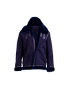 The Geo II Reversible Shearling Jacket In Cobalt