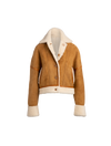 The Jupiter II Reversible Shearling Jacket In Camel