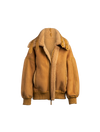 The Pluto Reversible Shearling Jacket In Saffron
