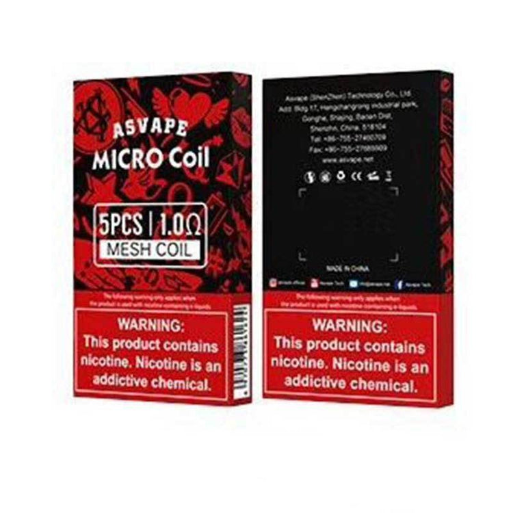 Asvape Micro Replacement Coils 5 Pack-Max VG-BIRD E-JUICE