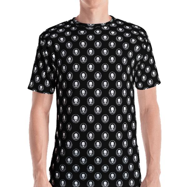 Logo All Over Black Sublimated Shirt-Max VG-BIRD E-JUICE
