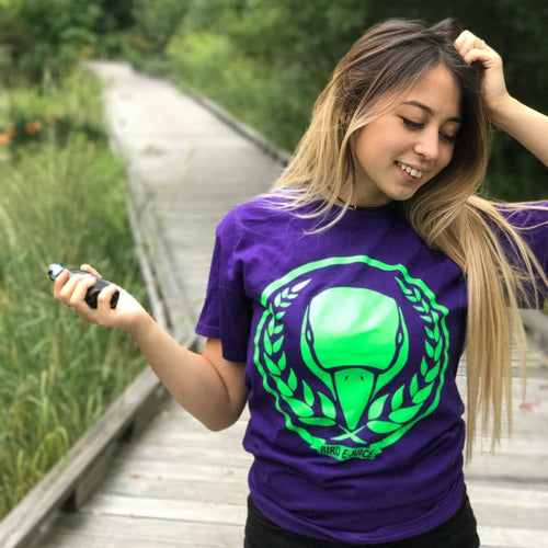 Purple/Green BIRD E-JUICE T-Shirt-Max VG-BIRD E-JUICE