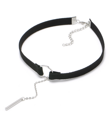 90'S Punk Leather Choker Necklace