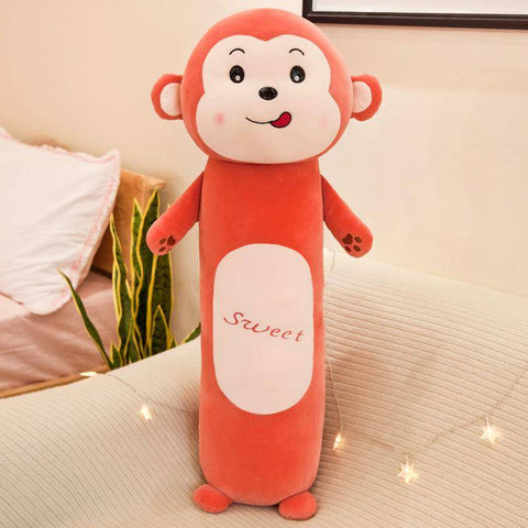Cartoon Plush Toy Lion Frog Monkey Rabbit Long Cylindrical Stuffed Animals Plush Toys Pillow - Gifts For Family Online