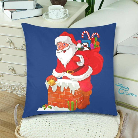 Image of Santa Claus Twin Pillow Covers Christmas Themed Home Decoration