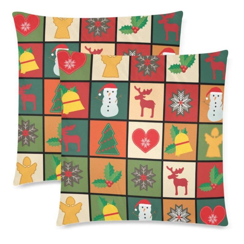 Christmas Pillow Cover Set Of Two - Deal Of The Day