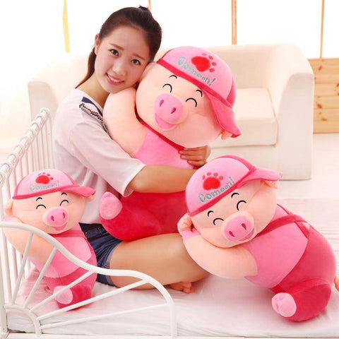 Pig Plush Toy Pink/Blue Stuffed Animal Toys Kawaii Pillow Gifts For Family