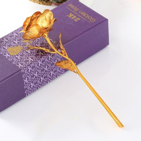 24k golden rose love