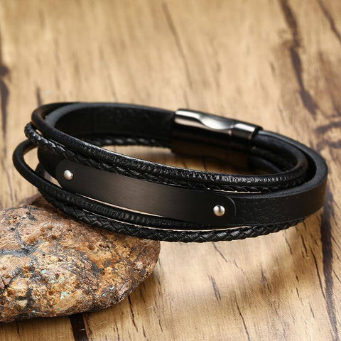 Image of personalized mens bracelets - Gifts For Family Online