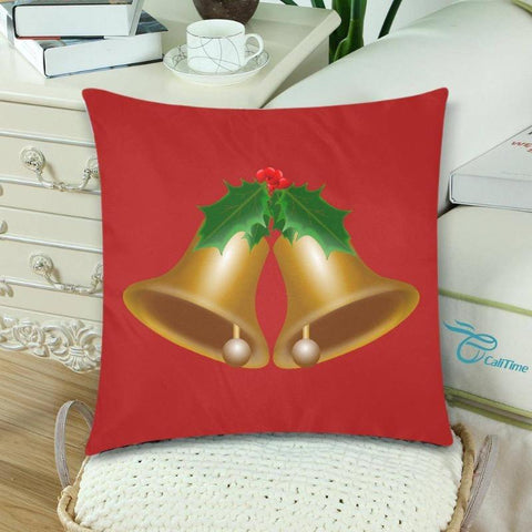 Christmas Bells Pillow Cover Set Of Two - Deal Of The Day