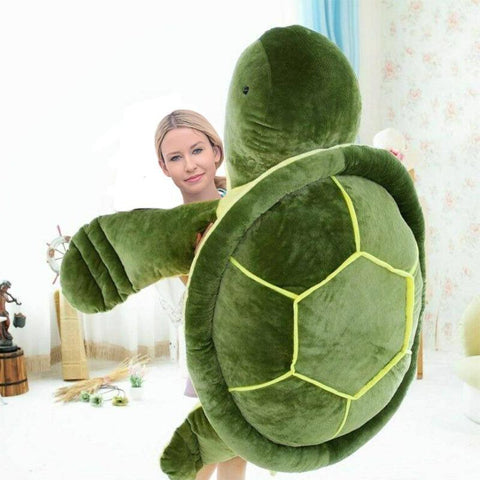 Image of Giant Sea Turtle Plush Toy Green Stuffed Animals Cute Tortoise Pillow