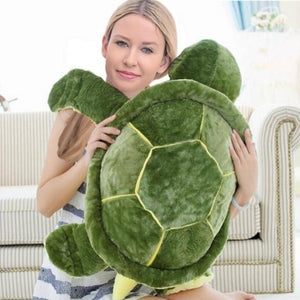 Giant Sea Turtle Plush Toy Green Stuffed Animals Cute Tortoise Pillow