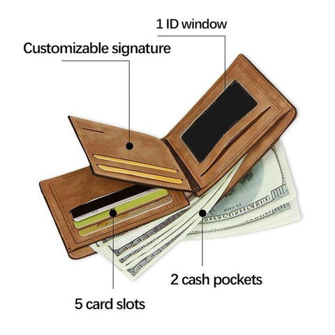 Image of mens custom wallet - Gifts For Family Online