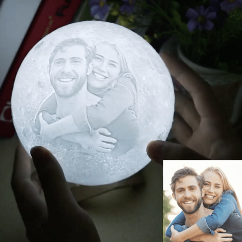 Image of moon lamp with photo - Gifts For Family Online