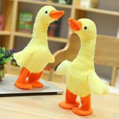 Image of Electric Walking Dancing Duck Plush Toys Funny Toy Gifts For Family & Friends