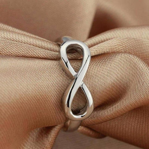 Personalized 925 Sterling Silver Engraving Infinity Ring - Gifts For Family Online