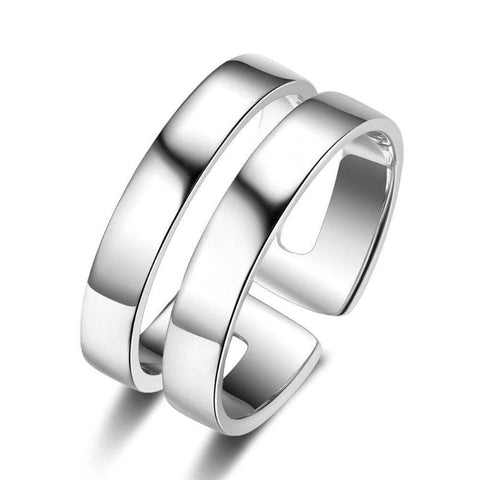 Personalized Double Layer Ring Engraved Two Names Anniversary Gifts For Women