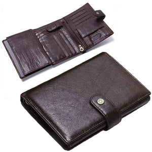 Mens Leather Wallet Personalized Engraved Name Organizer Wallets Gifts For Men