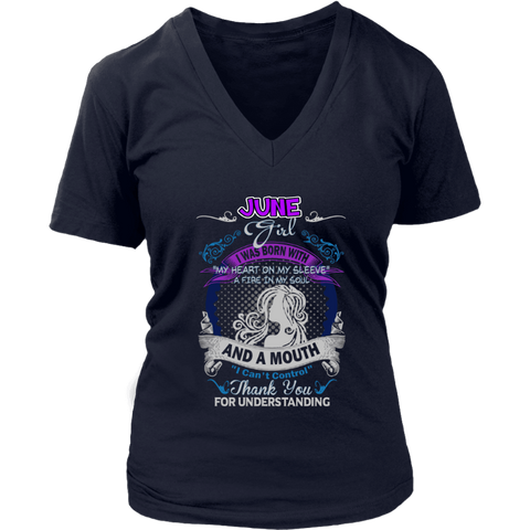 Image of Personalized June Women's Shirt - Gifts For Family Online