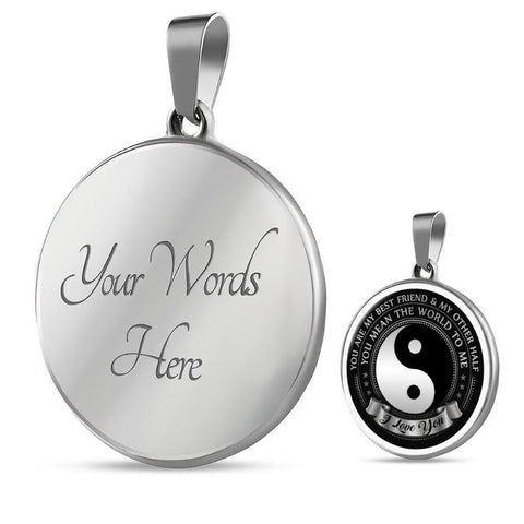 Image of Yin Yang Necklace - Gifts For Family Online