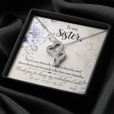 unbiological sister necklace - Gifts For Family Online
