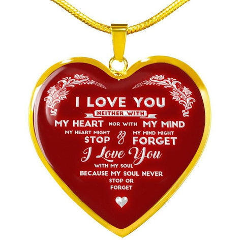 Image of personalised heart necklace - Gifts For Family Online