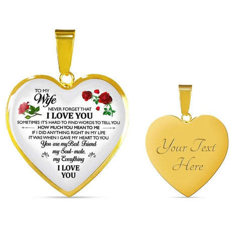 Image of To My Wife Necklace - Gifts For Family Online