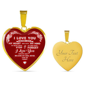 i love you necklace - Gifts For Family Online