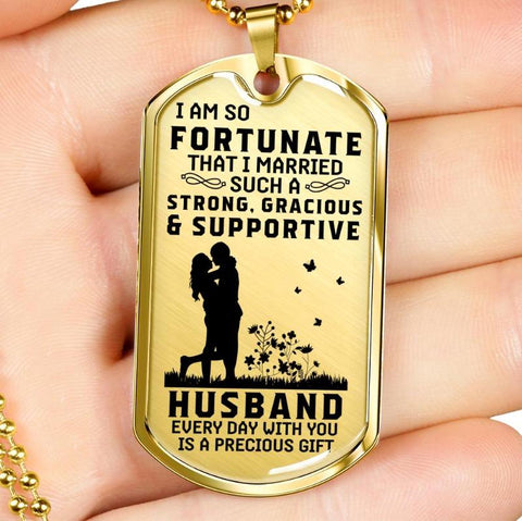 Image of dog tag necklace - Gifts For Family Online