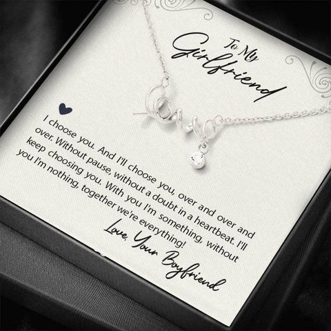 Image of necklace with card message - Gifts For Family Online