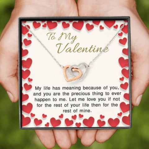 Image of necklace with message card - Gifts For Family Online