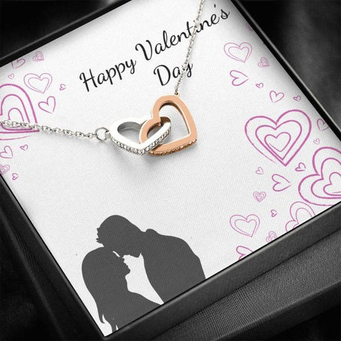 Image of double heart necklace - Gifts For Family Online