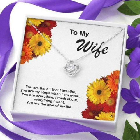 Love Knot Necklace Gift For Wife I love You More Anniversary Gifts For Wife