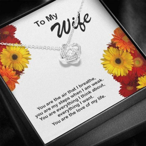 Image of Love Knot Necklace Gift For Wife I love You More Anniversary Gifts For Wife