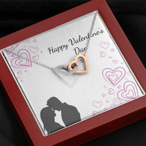 Image of two hearts necklace - Gifts For Family Online