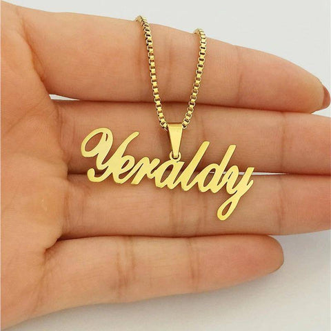 Personalized Name Pendant Necklace Handmade Gift For Birthday