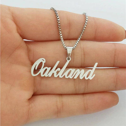 Image of Personalized Name Pendant Necklace Handmade Gift For Birthday