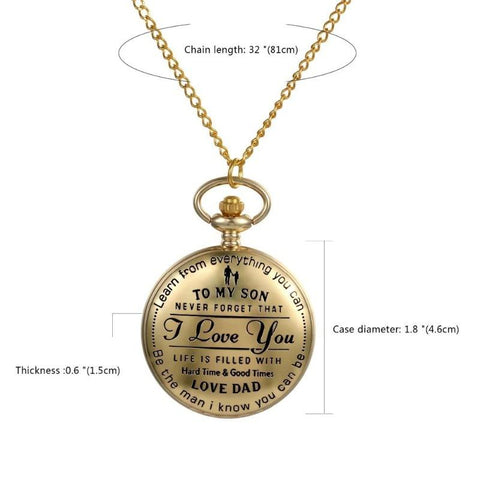 engraved pocket watch for son - Gifts For Family Online