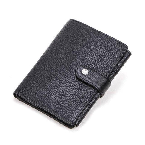 Mens Leather Wallet Card Holder Passport Holder Coin Purse Brown Black Wallets Free Name Engraving - Gifts For Family Online