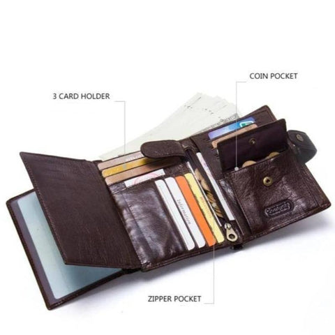 Image of men's leather wallet - Gifts For Family Online