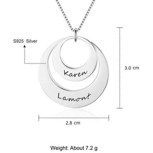 engraved pendant - Gifts For Family Online