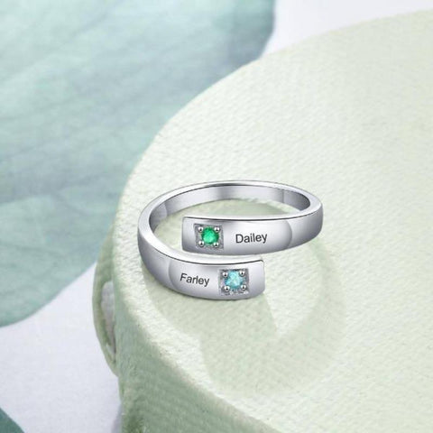 custom text ring - Gifts For Family Online
