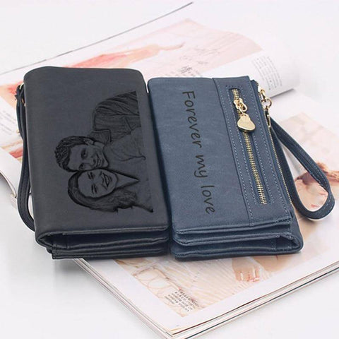 Image of Personalized Women's Wallet Custom Photo Wallets Unique Gifts For Her