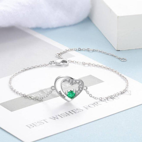 personalized birthstone bracelet - Gifts For Family Online