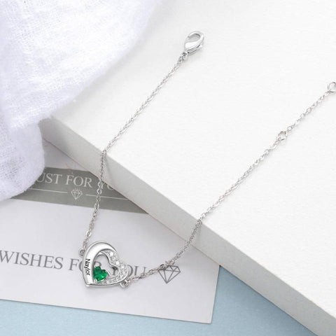 custom birthstone bracelet - Gifts For Family Online