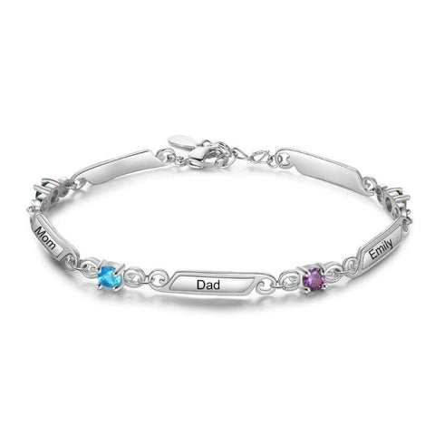 Image of custom bracelets with names - Gifts For Family Online