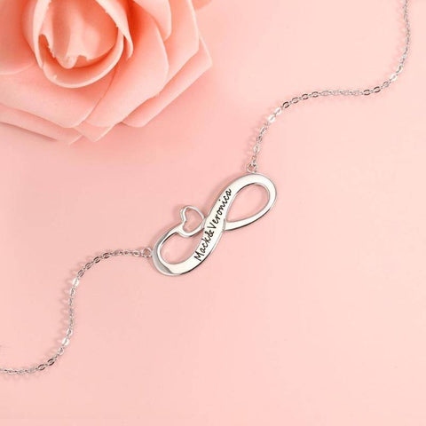 Image of custom infinity necklace - Gifts For Family Online