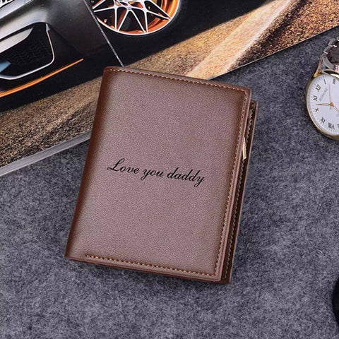 Engraved Mens Wallet - Gifts For Family Online